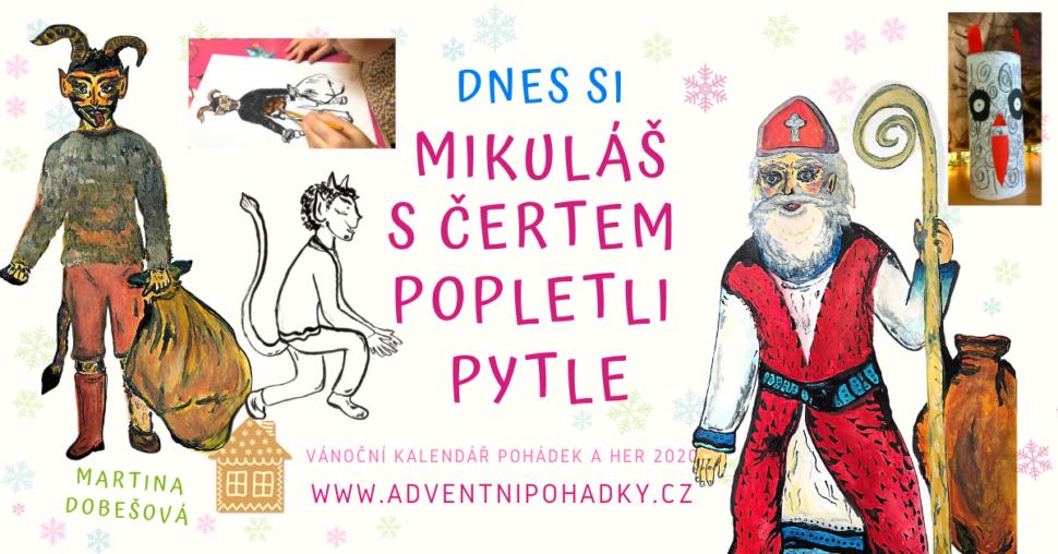 Vánoční pohádka Jak si Mikuláš sčertem popletli pytle